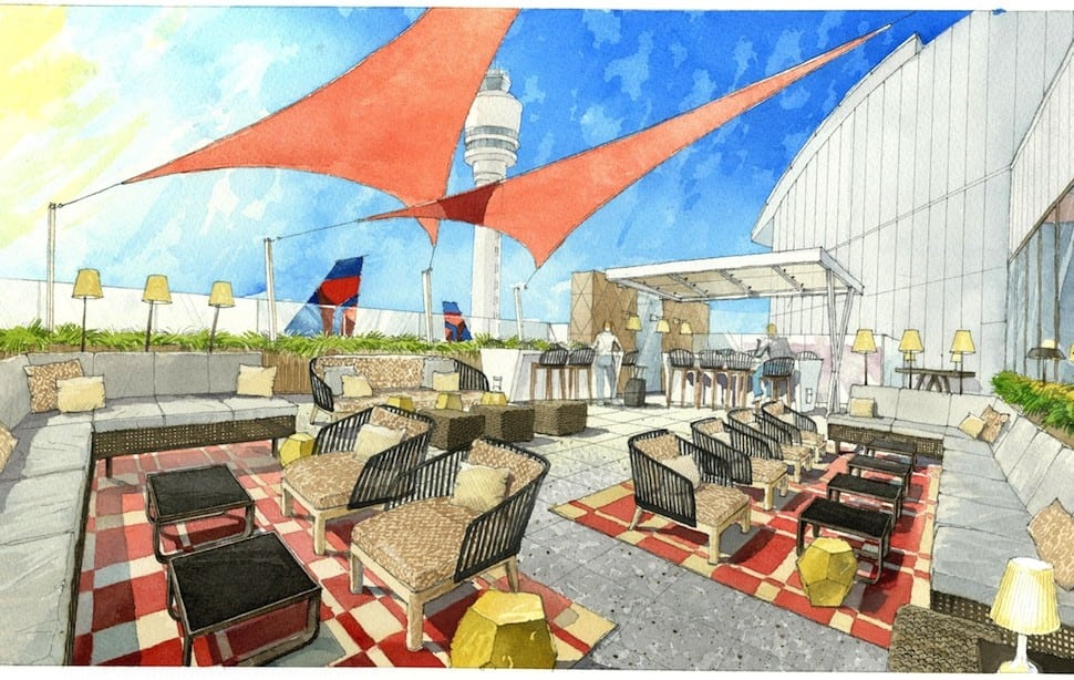 Delta's new Sky Clubs offer fresh air, great views, and a little sun